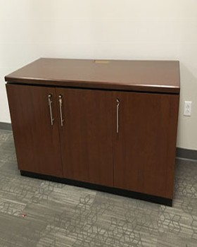 36 RU Rack Rails, Three Door Credenza with service access
