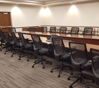 Long V-Shape Conference Table